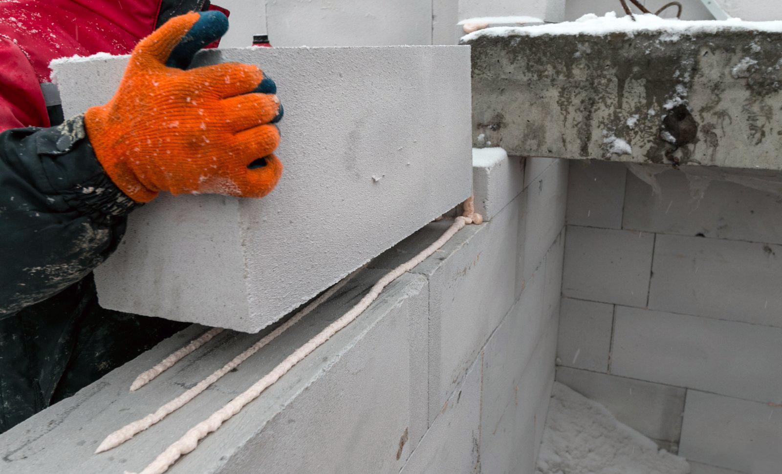 кладка газобетонных блоков при минусовой температуре