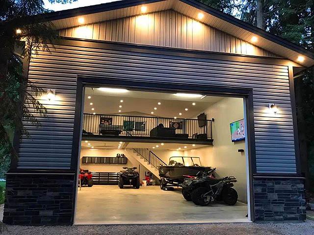 Можно ли на гараже построить дом места для гаража купить
