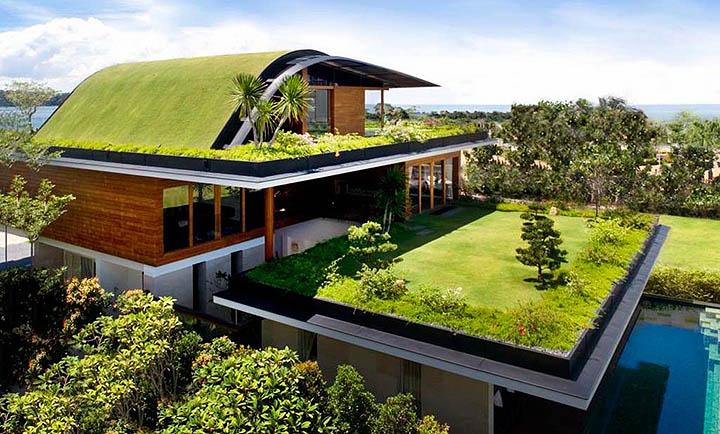 Плоская крыша в загородном доме. За и против. Особенности эксплуатации коттеджей с плоской кровлей