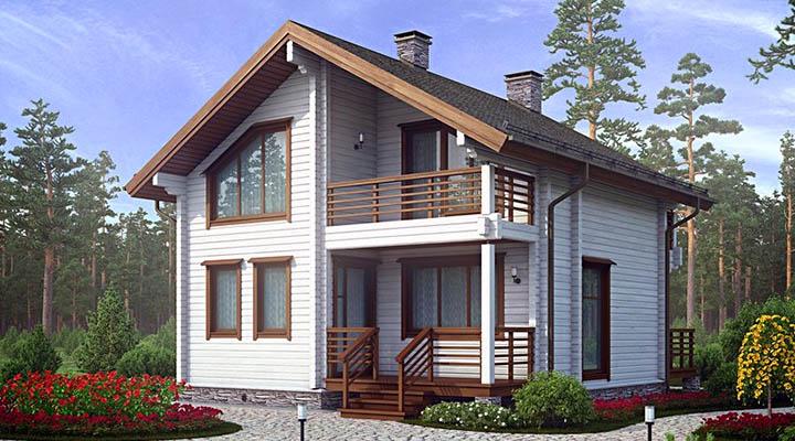 Дома и коттеджи размером 8 на 8 м. Плюсы и минусы