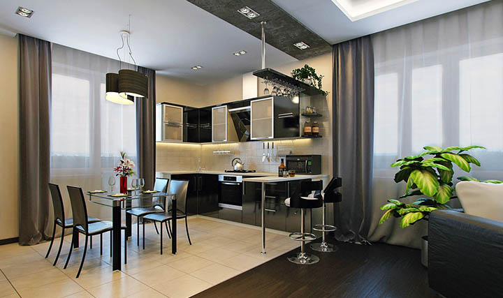 Стоит ли совмещать гостиную и кухню в частном доме? Какую планировку, дизайн для коттеджа лучше выбрать?