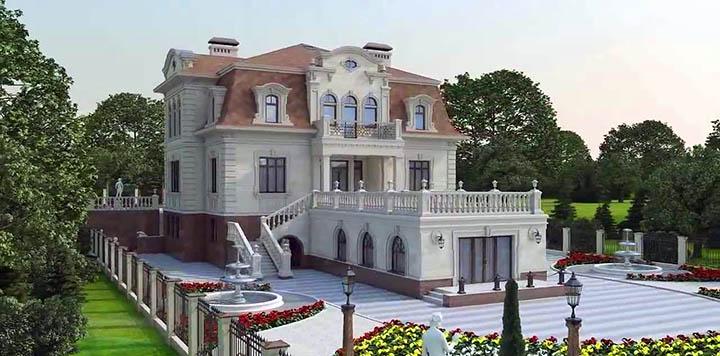 Дома и коттеджи в стиле Барокко. Архитектура, проекты, дизайн оформления