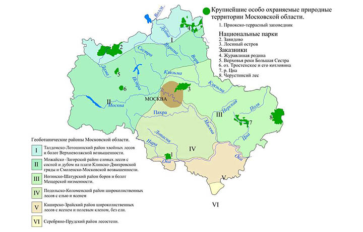 Подробная спутниковая карта Алабино на карте Московской области.