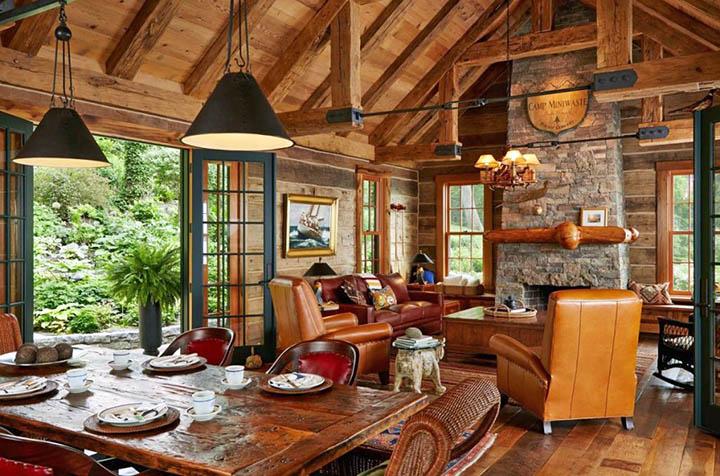 Дизайн деревянных домов. Варианты стилей и оформления интерьера коттеджей из дерева