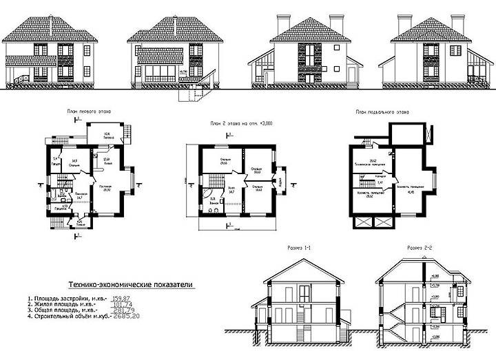 Выбор проекта дома из пенобетона, пеноблоков, газобетона. Что следует учесть?