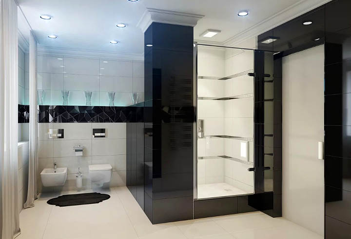 Интерьер ванной комнаты в стиле хай-тек. Советы дизайнеров