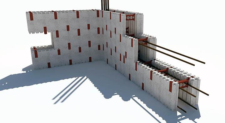 Как строятся монолитные дома методом несъемной опалубки?