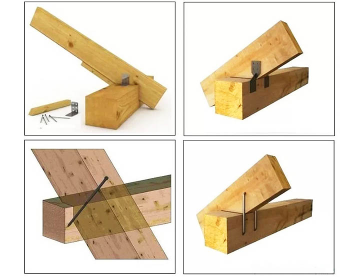 Какой крепеж подойдет для монтажа стропил и крепления деревянных балок дома?