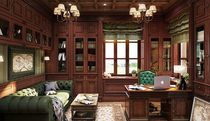 Какой дизайн интерьера выбрать для кабинета в доме?