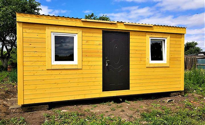 Как самому построить бытовку и переделать ее в дачный дом?