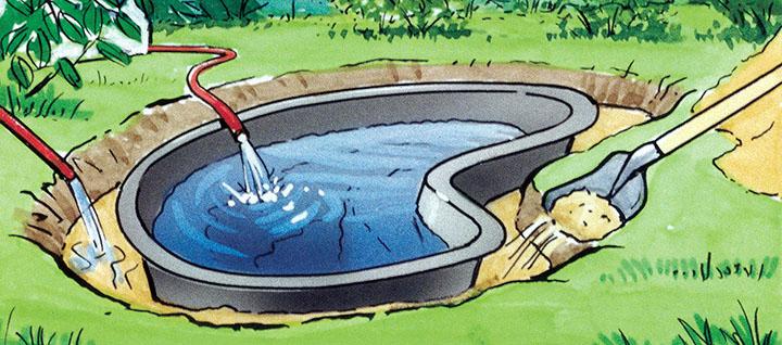 Искусственный водоем на даче. Как сделать: из пленки или пластика?