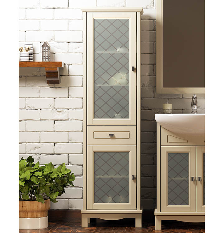 Как украсить ванную комнату за счет мебели?