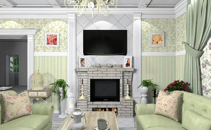 Обустройство гостиной в стиле Прованс. Правила и нюансы