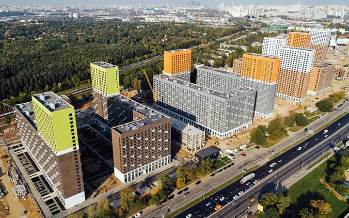 Жилые кварталы в Сколково
